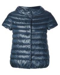 Herno | Blue Short Sleeve Padded Jacket | Lyst