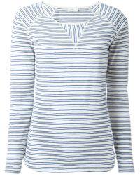 Closed   Blue Longsleeved Striped T-shirt   Lyst