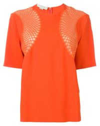 Stella McCartney   Black Mesh Inset T-shirt   Lyst