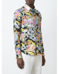 KENZO - Blue Cartoons Shirt for Men - Lyst