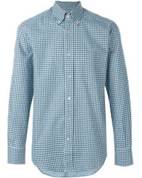 Canali - Multicolor Checked Shirt for Men - Lyst