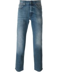 7 For All Mankind | Blue Stonewashed Jeans for Men | Lyst