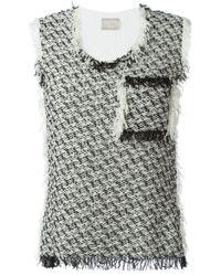 Lanvin   White - Tweed Tank Top - Women - Cotton/polyamide - M   Lyst