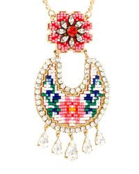 Shourouk - Multicolor 'leitmotiv Zia' Beaded Necklace - Lyst