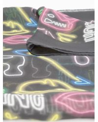 Moschino - Black Neon Print Scarf - Lyst