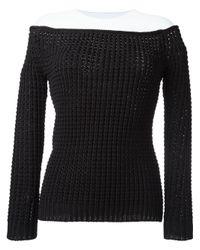 Loewe - Black Knitted Blouse - Lyst