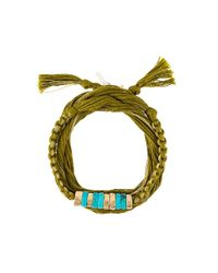 Aurelie Bidermann | Metallic Ocean Beach Bangle with Threads | Lyst