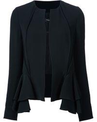 Derek Lam | Black Ruffle Detail Jacket | Lyst