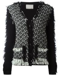 Lanvin | Black Tweed Cardigan | Lyst