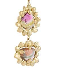 Natasha Collis - Metallic 18kt Yellow Gold Cluster Earrings - Lyst
