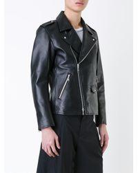Guild Prime - Black - Asymmetric Zip Up Biker Jacket - Men - Lamb Skin - L for Men - Lyst