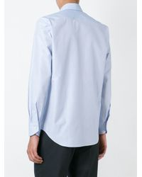 Canali - Blue Textured Button Down Shirt for Men - Lyst