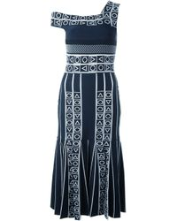 Peter Pilotto - Blue 'index' Jacquard Knit Dress - Lyst