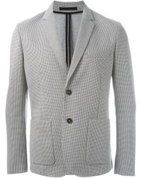 Paolo Pecora | Gray Notched Lapel Houndstooth Blazer for Men | Lyst