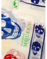 Alexander McQueen - White 'skull' Scarf - Lyst