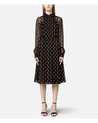 Christopher Kane - Black Love Heart Print Shirt Dress - Lyst