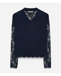 Christopher Kane - Blue Signature Lace Sweater - Lyst