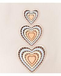 Christopher Kane - Natural Love Heart Motif Mini Skirt - Lyst