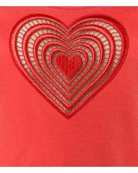 Christopher Kane - Red Tonal Heart Vest - Lyst
