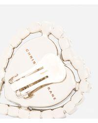 Christopher Kane - Metallic Large Love Heart Clip-on Earrings - Lyst