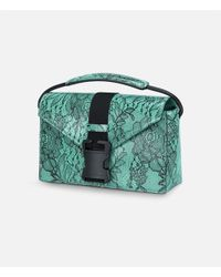 Christopher Kane - Blue Safety Buckle Lace Print Shoulder Bag - Lyst