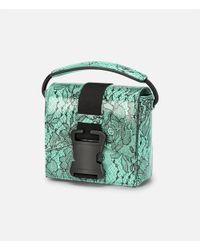 Christopher Kane - Blue Lace Printed Bonnie Shoulder Bag - Lyst