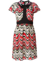 M Missoni | Multicolor Wavy Print Dress | Lyst