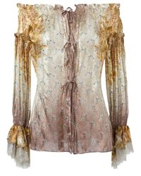 Etro | White Off The Shoulder Tunic | Lyst