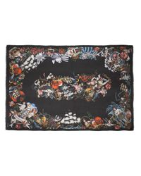 DSquared² - Black Tattoo Print Scarf - Lyst