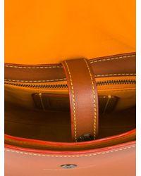 COACH - Brown Floral Applique Saddle Crossbody Bag - Lyst