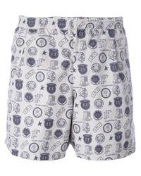 Golden Goose Deluxe Brand | White 'greg' Reversible Swim Shorts for Men | Lyst