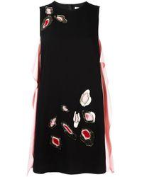 MSGM | Black Embellished Sleeveless Dress | Lyst