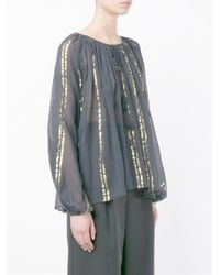 Mes Demoiselles - Black Folk Peasant Blouse - Lyst