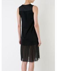Loveless - Black Flounce Hem Dress - Lyst