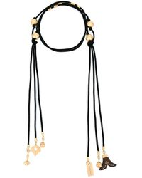 Chloé | Black 'janis' Tie Necklace | Lyst