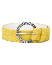Orciani - Yellow Snakeskin Effect Belt - Lyst