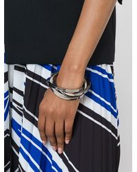 DSquared² - Metallic Stacked Bangle - Lyst