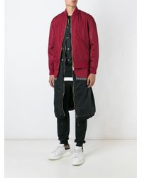 Casely-Hayford - Purple Double Effect Inset Bomber Jacket for Men - Lyst