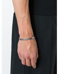 Northskull - Metallic 'net' Cuff Bracelet for Men - Lyst