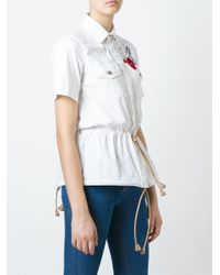 DSquared² | White Embellished Shirt | Lyst