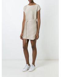Pleats Please Issey Miyake - Blue Pleated Short Dress - Lyst