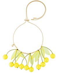 P.A.R.O.S.H. - Metallic 'cherry' Necklace - Lyst