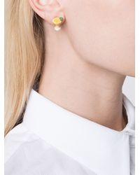 Venessa Arizaga - Multicolor 'margarita Lime' Earrings - Lyst