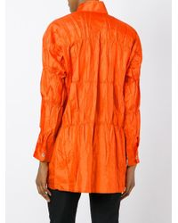 Issey Miyake - Multicolor Crushed Shirt - Lyst