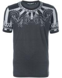 Dolce & Gabbana - Gray Printed T-shirt for Men - Lyst