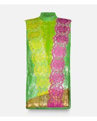 Christopher Kane - Green Lace Top With Plastic Panels - Lyst
