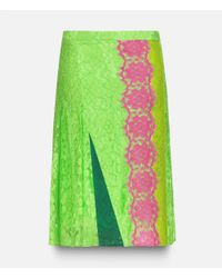 Christopher Kane - Blue Lace Midi Skirt With Plastic - Lyst