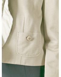 Moschino - Blue Frill Trim Jacket - Lyst