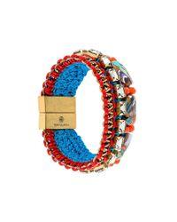 Tory Burch | Multicolor Woven Bead Bracelet | Lyst