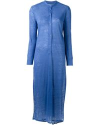 Majestic Filatures Blue - Jersey Maxi Dress - Women - Linen/flax - 1